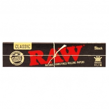 Raw Black King Size Slim 110mm Rolling Papers
