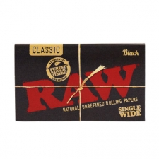Raw Black Single Wide Double Window 70mm Rolling Papers