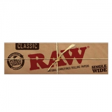 Raw Classic Single Width Single Window 70mm Rolling Paper