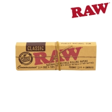 Raw Classic Connoisseur 1 1/4 Rolling Papers with Tips