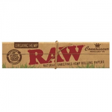 Raw Organic Hemp King Size Slim Connoisseur 110mm Rolling Paper with Tips