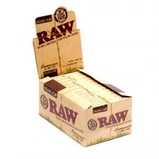 Raw Organic Hemp Connoisseur 1 1/4 Rolling Papers with Tips Box of 24 Packs