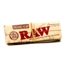 Raw Organic Hemp Connoisseur 1 1/4 Rolling Papers with Tips