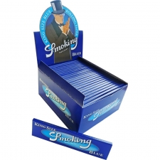 Smoking Blue King Size 110mm Rolling Papers Box of 50 Pack