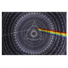 3D Pink Floyd Dark Side of the Moon Shadow - Artwork by Mackerel Graphics - Tapestry - BedSheet 30X45
