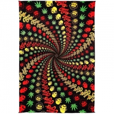 3D Cheech and Chong Spiral Tapestry - BedSheet 60x90