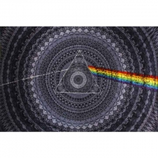 3D Pink Floyd Dark Side of the Moon Shadow - Artwork by Mackerel Graphics - Tapestry - BedSheet 60x90