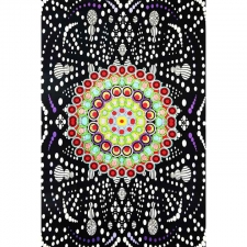 3D Hypno Moons by G Scott B Tapestry - BedSheet 60x90