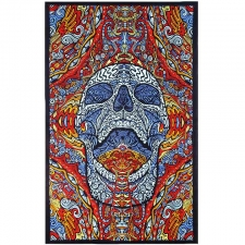 3D Mindful Skull By Chris Pinkerton Tapestry - BedSheet 60x90
