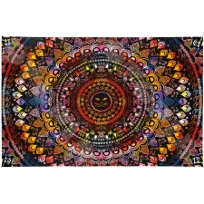 3D Rainbow Cat Mandala by Dina June Toomey Tapestry - BedSheet 60x90