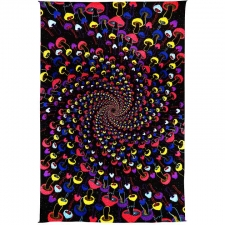 3D Shroom Spiral By Dina June Toomey Tapestry - BedSheet 60x90
