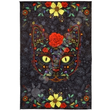 3D Sugar Kitty By Dina June Toomey Tapestry - BedSheet 60x90