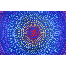 3D Universal Om By Dina June Toomey Tapestry - BedSheet 60x90