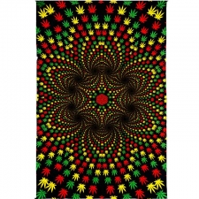 3D Weed Vortex by G Scott B Tapestry - BedSheet 60x90