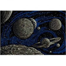 3D Glow In The Dark Galactic Space By Chris Pinkerton Tapestry - BedSheet 60x90