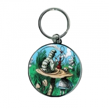 Alice and Smoking Caterpillar Keychain