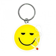 Smoking Smiley Face Keychain