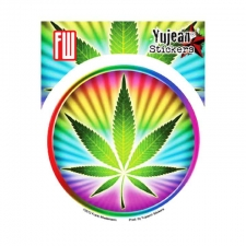 Psychedelic Pot Leaf Sticker
