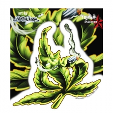 Rolling Low Pot Leaf Sticker