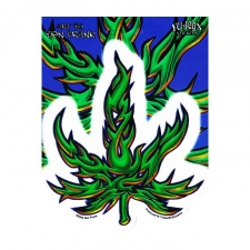 Tribal Pot Leaf Sticker