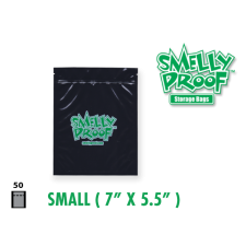 Smelly Proof Small Black Bags 7'' x 5.5'' Pack of 50