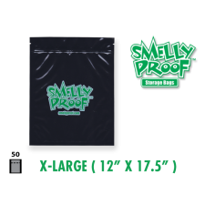 Smelly Proof Extra Large Black Bags 12'' x 17.5'' Pack of 50