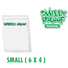 Smelly Proof Small 3 mil Clear Bags 6 x 4 Inch