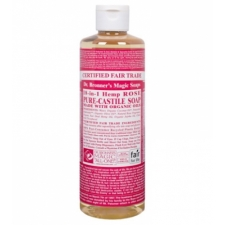 Dr. Bronner's All-in-one Hemp Rose Liquid 473ml Pure-castile Soap