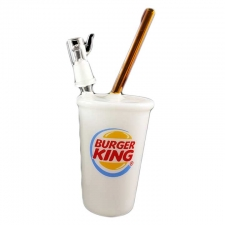 Burger King Cup Glass Rig Bubbler with Dome and Nail ST-76-4