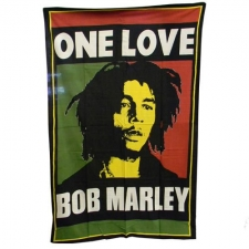Bob Marley single Bed Sheet / Tapestry - One Love