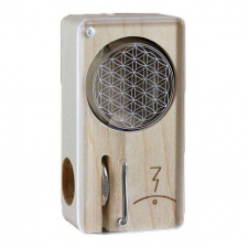 Magic Flight Launch Box Laser Etched Flower of Life Maple Wood Portable Vaporizer