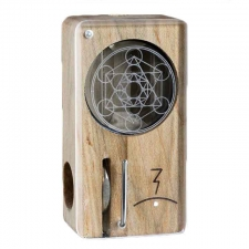 Magic Flight Launch Box Laser Etched Metatron's Cube Maple Wood Portable Vaporizer
