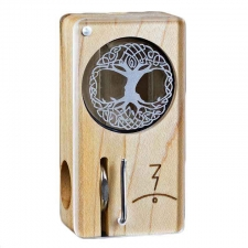 Magic Flight Launch Box Laser Etched Celtic Tree Maple Wood Portable Vaporizer