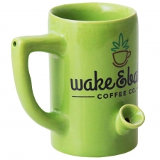 Wake & Bake 8oz Ceramic Pipe Mug - Wake and Bake Coffe Co