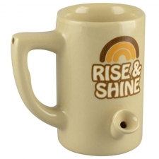 Wake & Bake 8oz Ceramic Pipe Mug - Rise & Shine